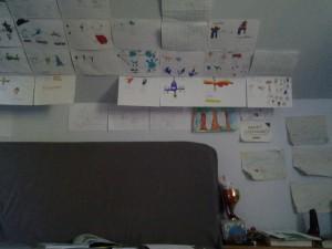La droite de la gallerie des pokemons dessinés.